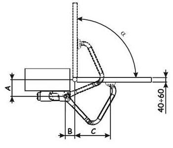 Схема механизма открывания ворот