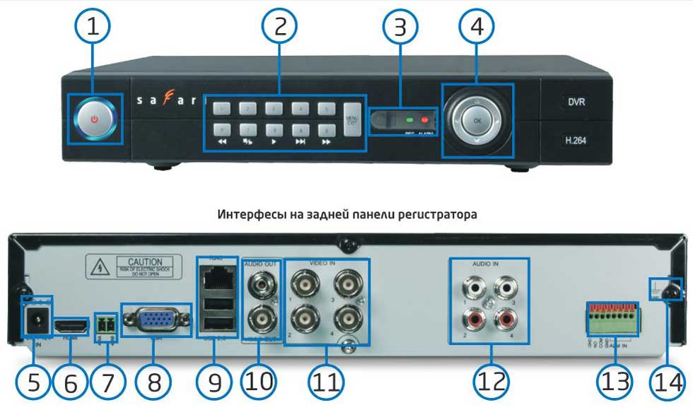 Схема подключения SVR-4.
